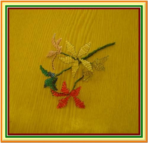 Плетение бисером учеником школы 1133.