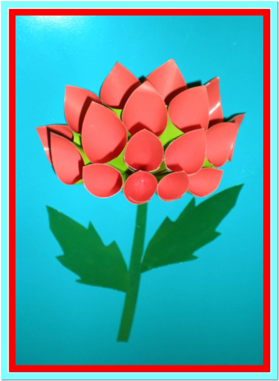 Аппликации цветов из цветной бумаги 43