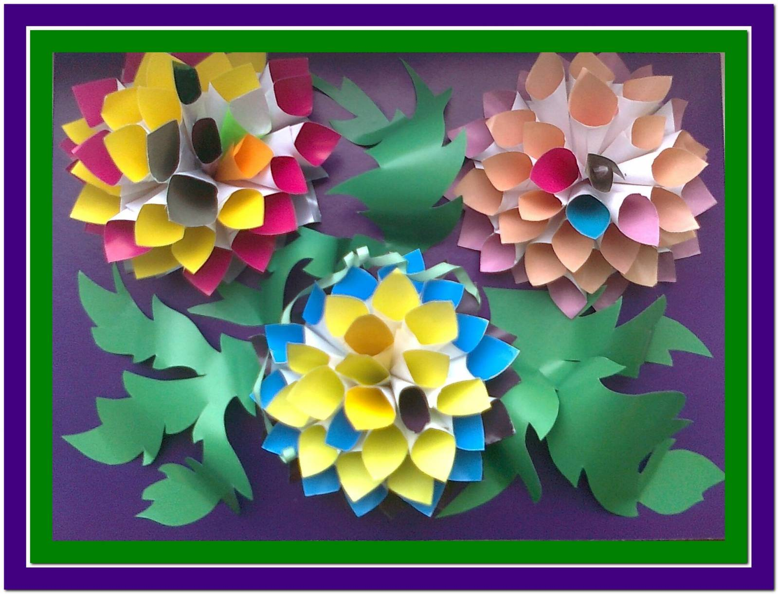 Поделки из цветной бумаги объёмные цветы