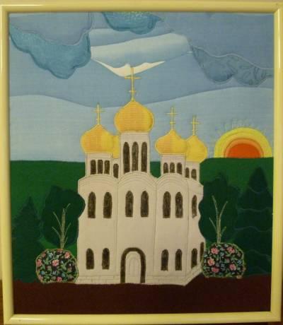 Церковь из цветной бумаги своими руками 66